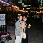 Скульптор Александр Рябичев с женой Александрой Загряжской, Тайланд