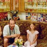Александр Рябичев с дочерью Софией, Египет, 1995г.