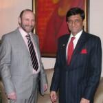 Александр Рябичев и посол Индии в России Прабхат Шукла, 2 марта 2010 года