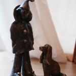 """Клоун с собачкой"" , бронза , работа Даниэлы Рябичевой -дочери Александра Рябичева"