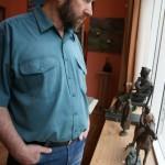 Скульптор Александр Рябичев  и его работы, 15 мая 2010 года