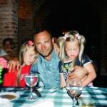 Александр Рябичев с дочерьми Софией и Даниэлой