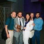 Александр и Александра Рябичевы с друзьями скульпторами Сергеем Смуровым и Сергеем Цветковым