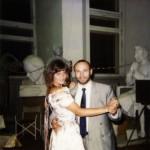 Скульптор Александр Рябичев с женой Александрой Загряжской в мастерской Рябичевых